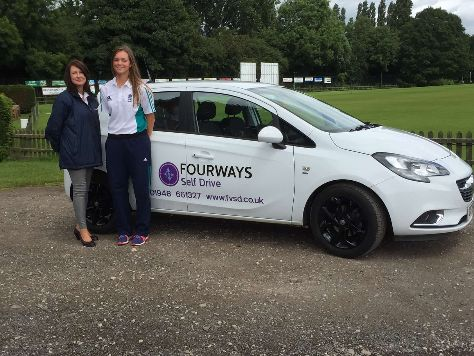 Renewed Sponsorship Cricket Evelyn Jones and Jill Williamson